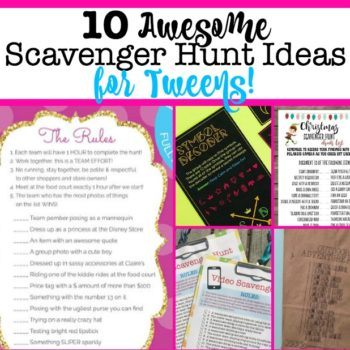 The Best Scavenger Hunt Ideas for Tweens!