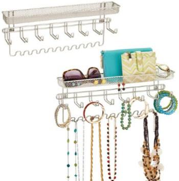 Set of 2 mDesign Metal Jewelry Organizers