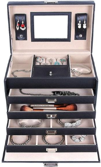 Songmics Lockable Jewelry Box