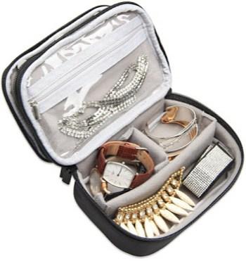 Teamoy Roomy Travel Jewelry Case