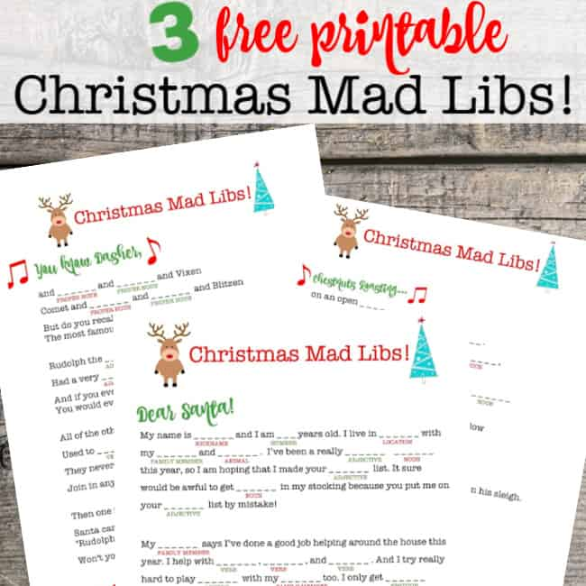 image about Halloween Mad Libs Printable Free titled Xmas Outrageous Libs! - MomOf6