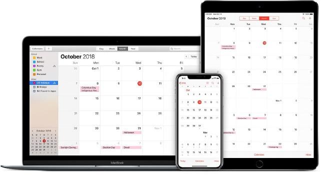 electronic family calendar