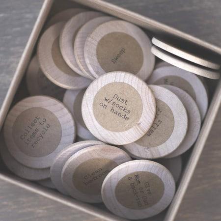 Chore Box with Chore Coins