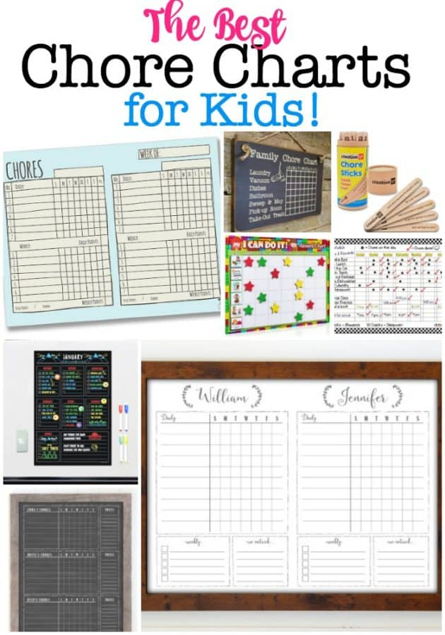 These are the best chore charts for kids that can serve as a great tool to communicate with and motivate your kids to get those chores done!