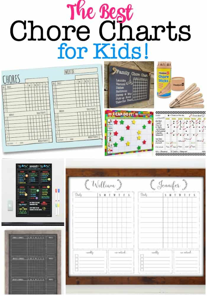 These are the best chore charts for kids that can serve as a great tool to communicate with and motivate your kids to get those chores done! #ChoreChartForKids #FamilyChoreCharts #ChoreCharts #ChoreChartsForMultipleKids