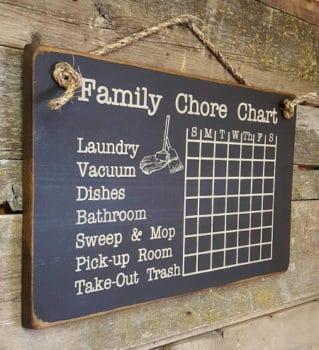 hanging family chore chart