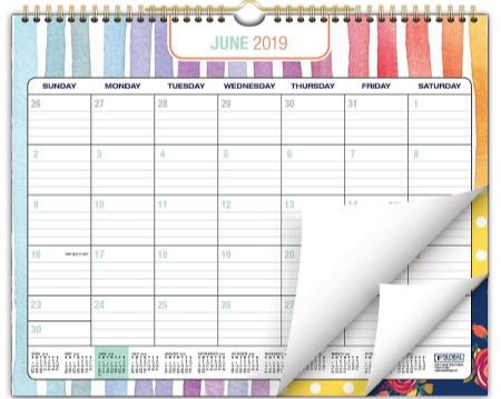 image relating to Family Planner Calendar named The Excellent Family members Calendars for 2019-2020! - MomOf6
