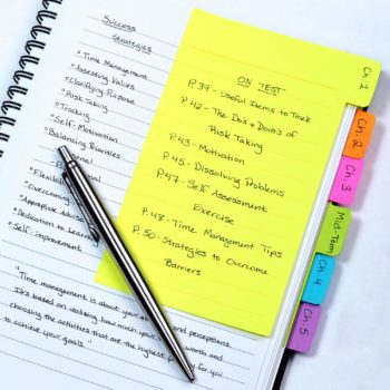 tabbed sticky notes for planners