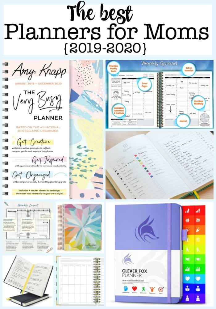 Here are the best planners for Moms for 2019-2020, which can lead you to set clear intentions for your life and help you to create goals and break those goals down into smaller steps so that you can achieve them!