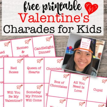 Valentines Day Games: Free Printable Charades / Heads Up Game for Kids!