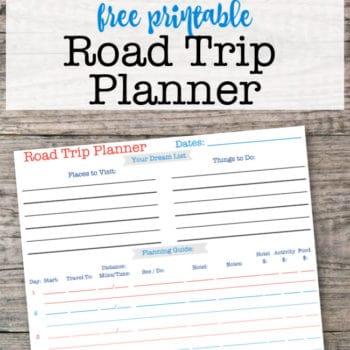 Printable Road Trip Planner!