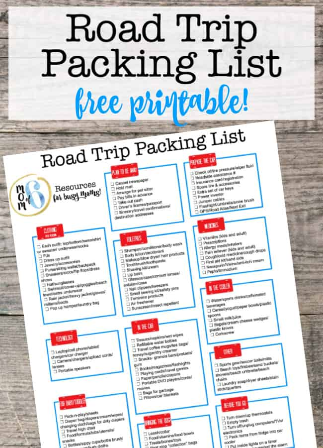 When you are planning a family road trip, it can be hard to remember everything that you want to take along. That's why it is so much easier to start with a master family road trip packing list printable and then just add on items specific to that trip! This post includes my free pdf packing list!