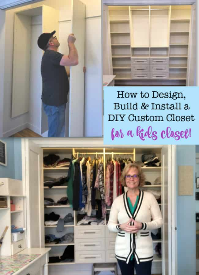 Installing a custom closet system to maximize the space in your kids' closets doesn't have to be expensive! You can save quite a bit of money if you are willing to do the measurements, design, and installation yourself- and it's not hard to do! Here's how we created a DIY Custom Closet for our two teen daughters in just one weekend!