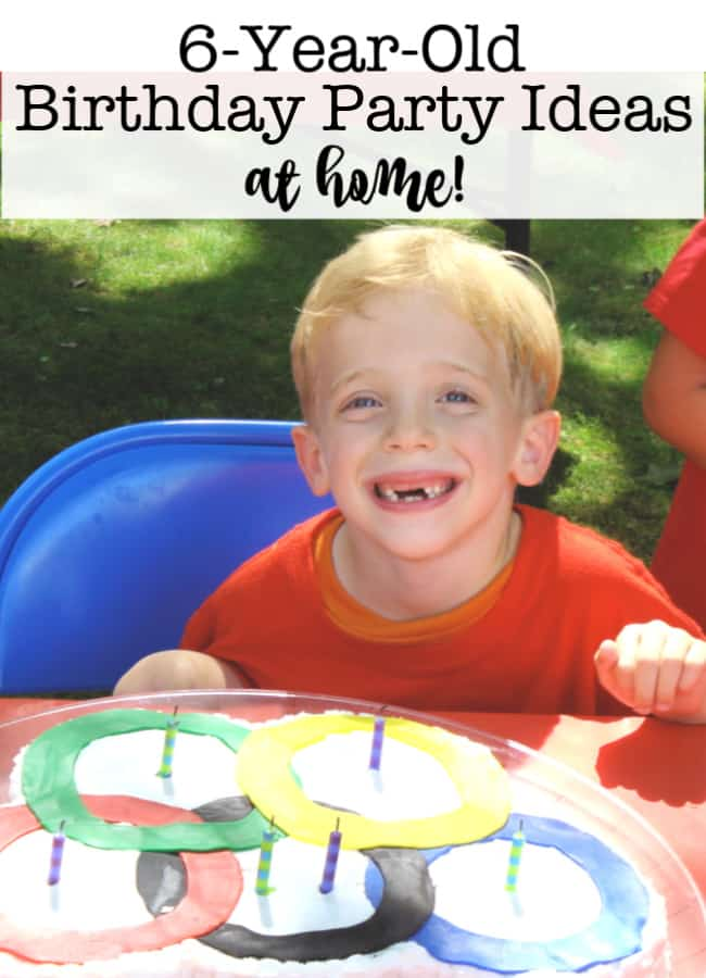 6-year-old birthday party ideas at home