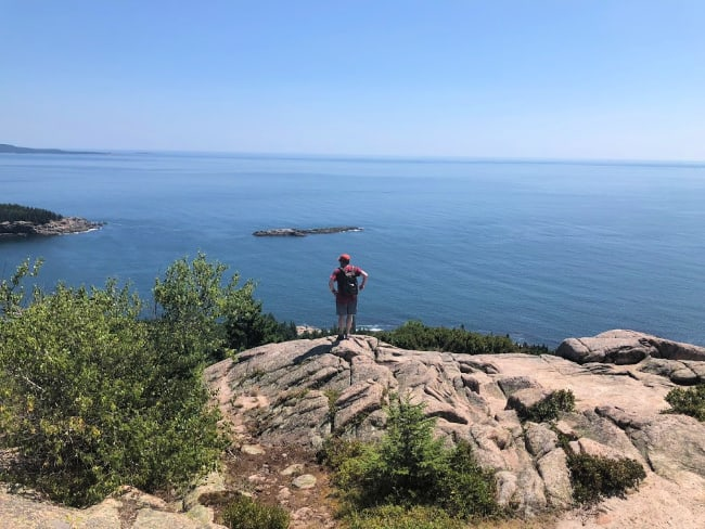 hiking with kids in Acadia