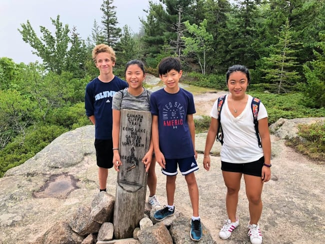 Acadia hikes with kids