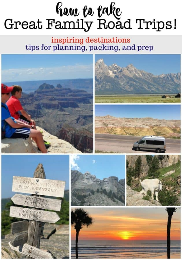 I've got lots of tips to share with you on how to pack and plan for a road trip, and some great suggestions for road trip destinations! You're going to look forward to traveling with your family!