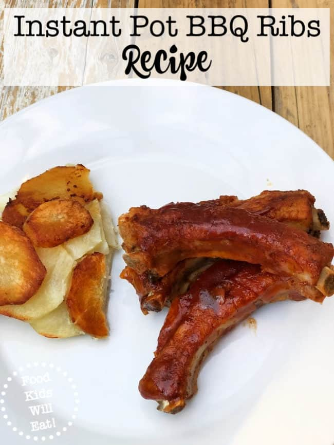 This Instant Pot BBQ Ribs recipe is one of my kids' favorite dinners right now because they are THAT delicious!