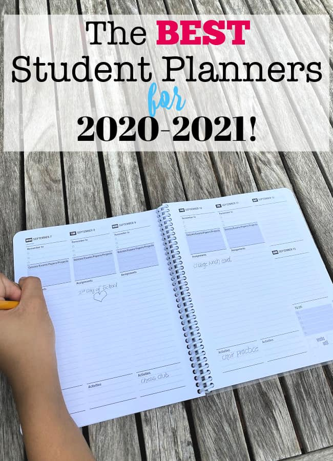 the best planners for students