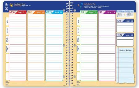 elementary school student planner