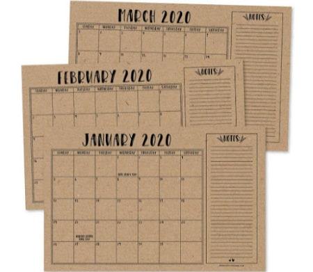 best desktop blotter family calendar
