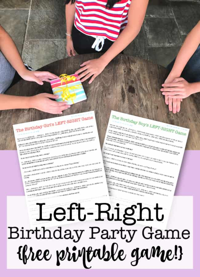 picture relating to Free Printable Left Right Birthday Game named Still left Specifically Birthday Get together Sport absolutely free printable! - MomOf6