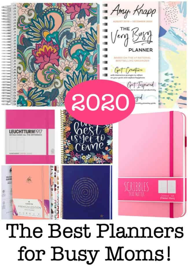 Here are the best planners for Moms for 2020, which can lead you to set clear intentions for your life and help you to create goals and break those goals down into smaller steps so that you can achieve them!