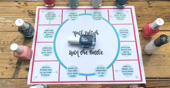 Spin The Bottle Nail Polish Game Momof6