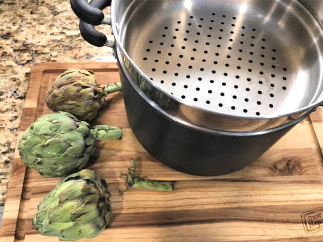 how to steam artichokes