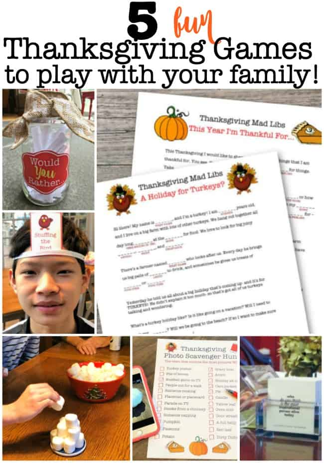 After you've enjoyed your Thanksgiving meal together, don't let everyone run off to watch football or tackle the dirty dishes- instead stay at the table and play these fun Thanksgiving games!