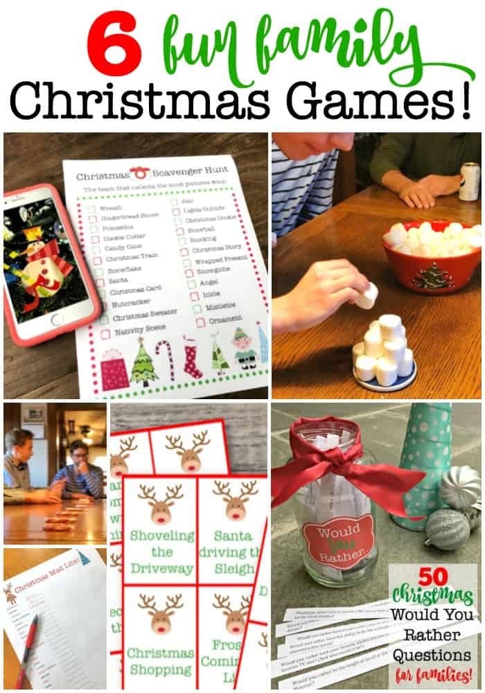 Assuming that you spent Christmas morning opening the gifts that the kids found under the tree, then you might be looking for a way to create some fun and excitement later in the day- after you've enjoyed your holiday dinner together! So here are 6 fun family Christmas games that you can play at the table!