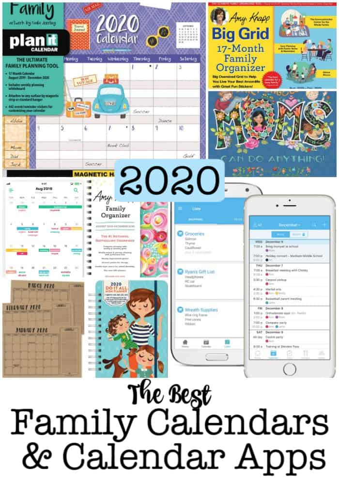 Having an awesome family calendar is what busy Moms need to be organized! Whether that's an electronic family calendar, a family calendar app, a wall calendar, or a calendar you can carry in your handbag. Here are the best family calendars for 2020! Find the one that's perfect for you!