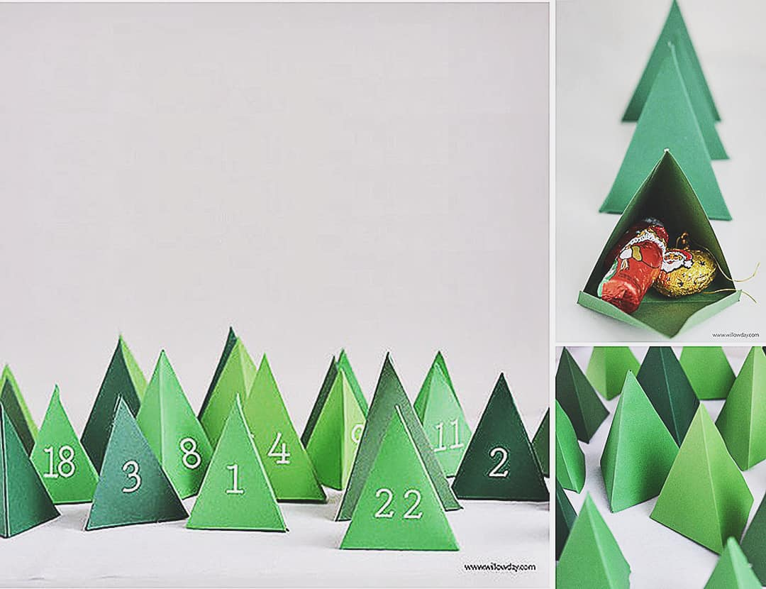 print and fold christmas countdown calendar