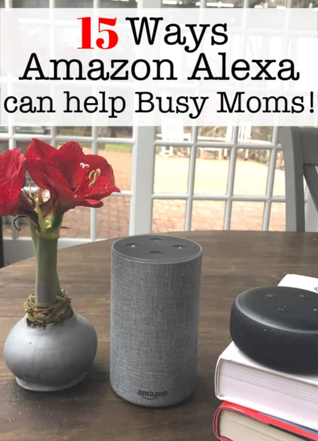 I think that so many households have an Amazon Alexa these days- but are we using this amazing technology to its full potential? Here are some great ideas on ways Amazon Alexa can help Moms!