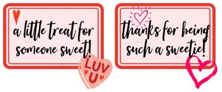 free printable Valentine's gift tag