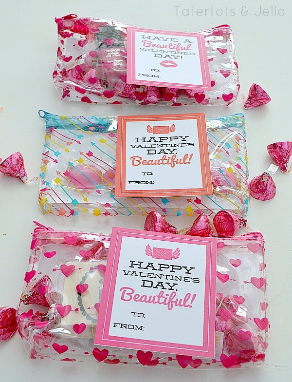 Valentine's gift idea for tweens and teens: beauty bags