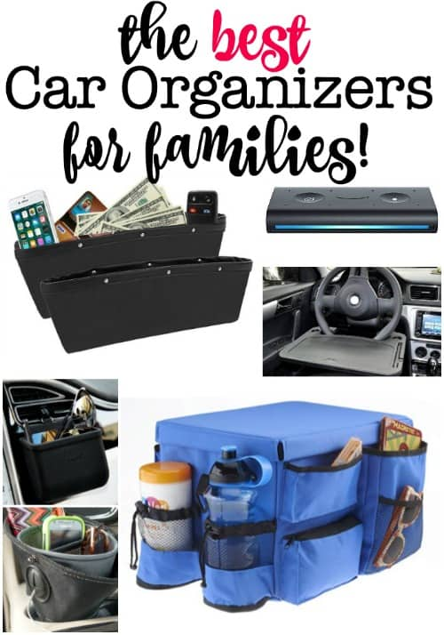 It really helps if you can keep your car neat and organized- whether you are running around town or taking a road trip! Here are the best car organizers for families!