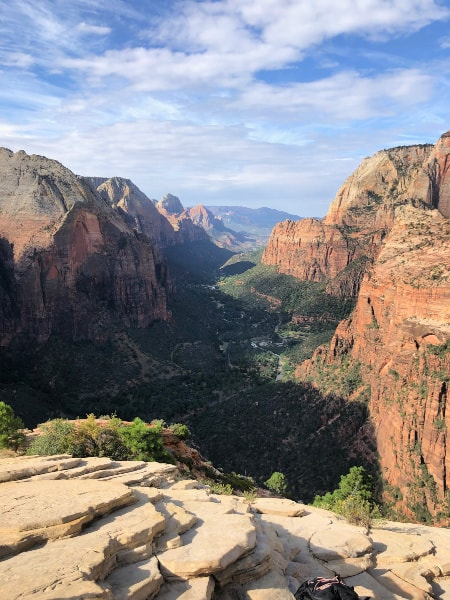 Angels Landing view at Zion National Park