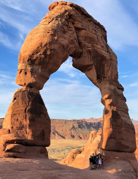 road trip to Delicate Arch