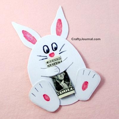 bunny hugging cash gift