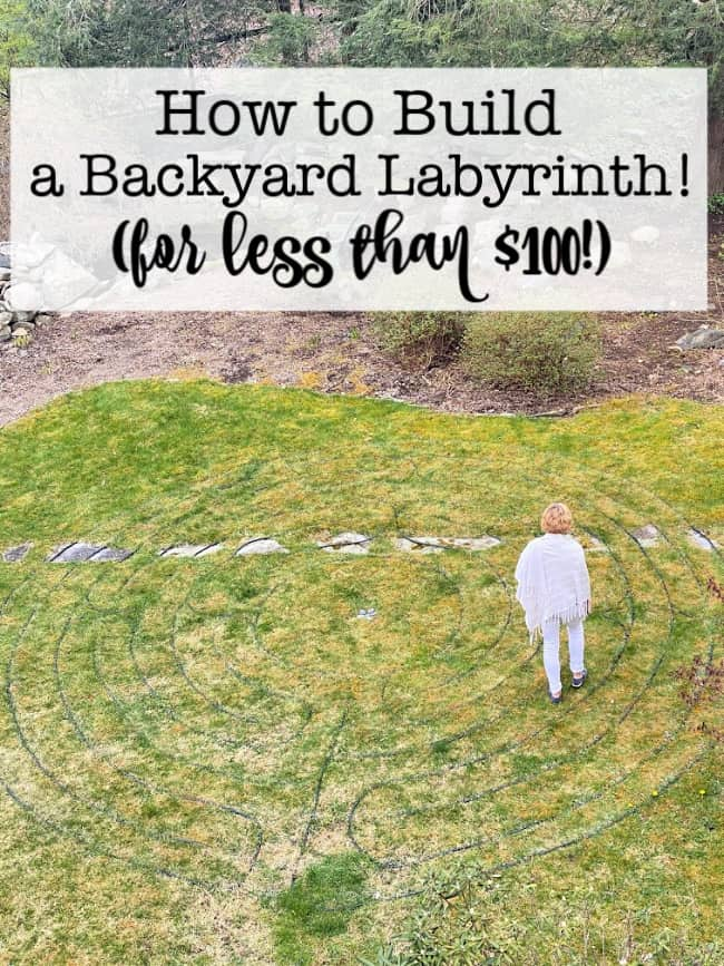 Building a labyrinth isn't a hard thing to do- if you use my plan to show you exactly how to lay out the paths! I was able to create my backyard labyrinth in just one afternoon, and for less than $100!