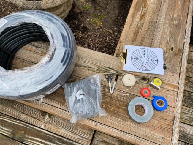 supplies needed for building a labyrinth